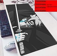 大型ゲーミングマウスパッド ワンピース 24インチx12インチ XL 拡張マット デスクパッド ゴム製 Naruto マウスパッド Hatake Kakashiデスク&マウスパッドUchiha SasukeテーブルPlay Mat-Photo_Color_900x400mm