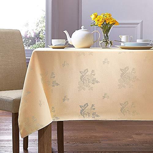 Charlotte Thomas Damask Rose Tablecloth Yellow 88cm x 88cm