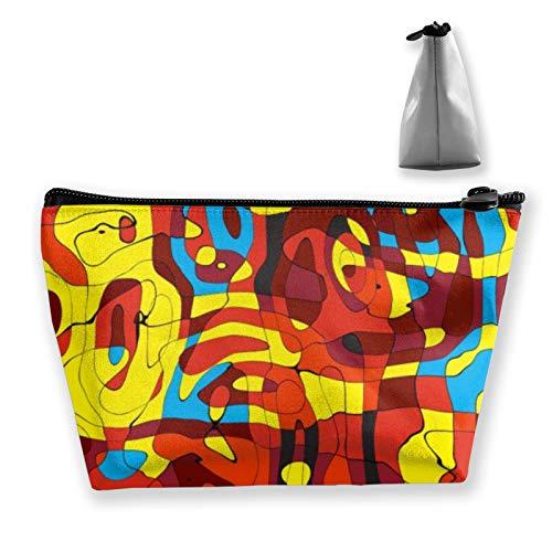 Bolsa de maquillaje de conexión en contraste para monedero, bolsa de maquillaje de viaje, bolsa de almacenamiento multifunción impermeable para mujeres y niñas