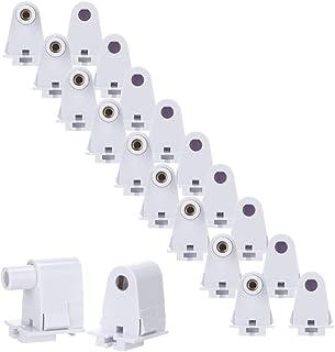 Brillihood 10 Pairs T8/T10/T12 Single Pin Slimline FA8 Tombstone Base LED Tube
