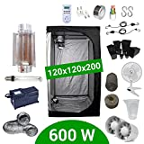 Kit Coltivazione Indoor 600W HPS Cooltube Protube - Grow Box 120x120x200 - Alimentatore Agrolite 2