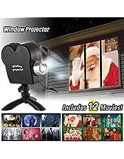 Window Projectielamp, led-projectielamp Kerstmis sterrenhemel projector sneeuwval projectorlamp, Halloween projectielamp waterdicht binnen- en buitendecoratie
