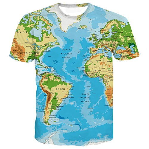 Sykooria T-shirt Heren T-shirts 3D Ronde hals met Overal patroon Zomer T-shirts