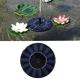 learnarmy 1.4W Solar Springbrunnen, Wasserpumpe Solar schwimmender Fontäne Pumpe Solarbrunnen Gartenbrunnen Künstlicher Außenbrunnen