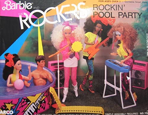 Barbie and The Rockers ROCKIN' POOL PARTY Playset (1986 Arco Toys, Mattel) by Barbie