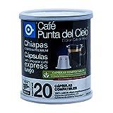 Café Punta del Cielo, Cápsulas Express, Café Region Oaxaca Cosecha Premium Lata 20 Piezas.