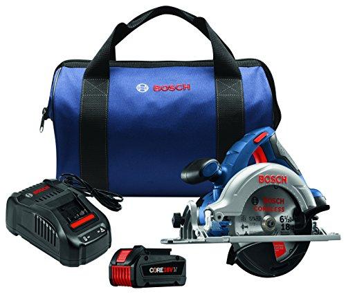 Bosch CCS180-B14 18V 6-1/2' Circular Saw Kit with CORE18V Battery, Blue