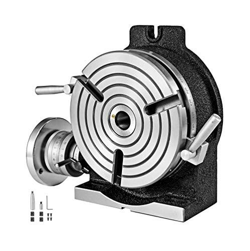 Drehtisch 8 Zoll / 200 mm horizontal Vertikalrundtisch 3-Slot-Rundtisch für Fräsmaschine Drehtisch