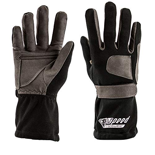 Speed Racewear - Karthandschuhe Sydney - Motorsport Handschuhe (10, Schwarz)