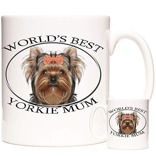 Taza de regalo Yorkshire Terrier. La mejor madre Yorkie del mundo. Taza de té de cerámica con diseño de perro pedicarí