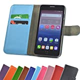 ikracase ARCHOS Access 50 Color 3G Smartphone/Slide Kleber Hülle Case Cover Schutz Cover Etui Handyhülle Schutzhülle in Blau-Light