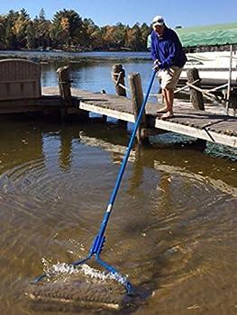 Beachroller -Weeds Muck Silt Gone! Lake Weed Removal Tool Stainless Steel Blades