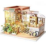 DIY Casa de muñecas de madera DIY Habitación en miniatura Set-Woodcraft Construction Kit-Modelo de madera Set-Mini Casa de construcción, Los mejores regalos de cumpleaños (Color: Multicolor, Tamaño: 2
