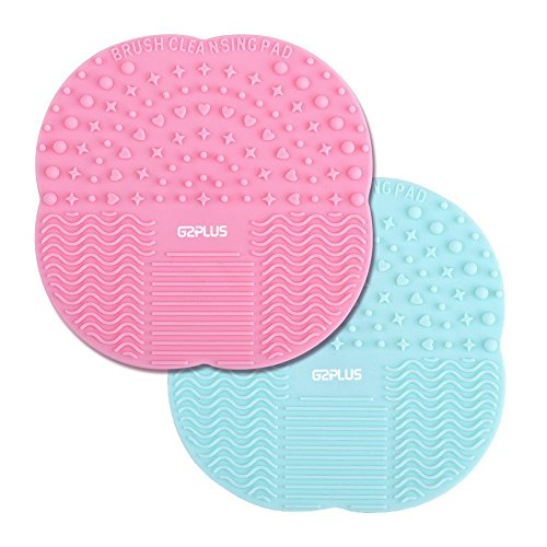 2 Stk Silikon Pinselreiniger Pinsel-Reinigung Brush Cleaner für Make-Up und Kosmetikpinsel 10CM * 10CM (MAT)