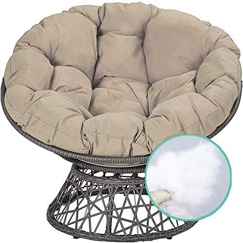 NCBH - Cojín de suelo exterior redondo Papastio, cojín de asiento para silla hamaca colgante para decoración exterior interior o regalo, 170 x 170 cm