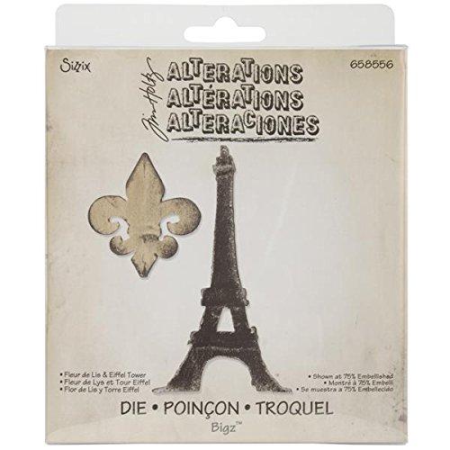 Sizzix Bigz Die, 5.5 by 6-Inch, Fleur De Lis and Eiffel Tower