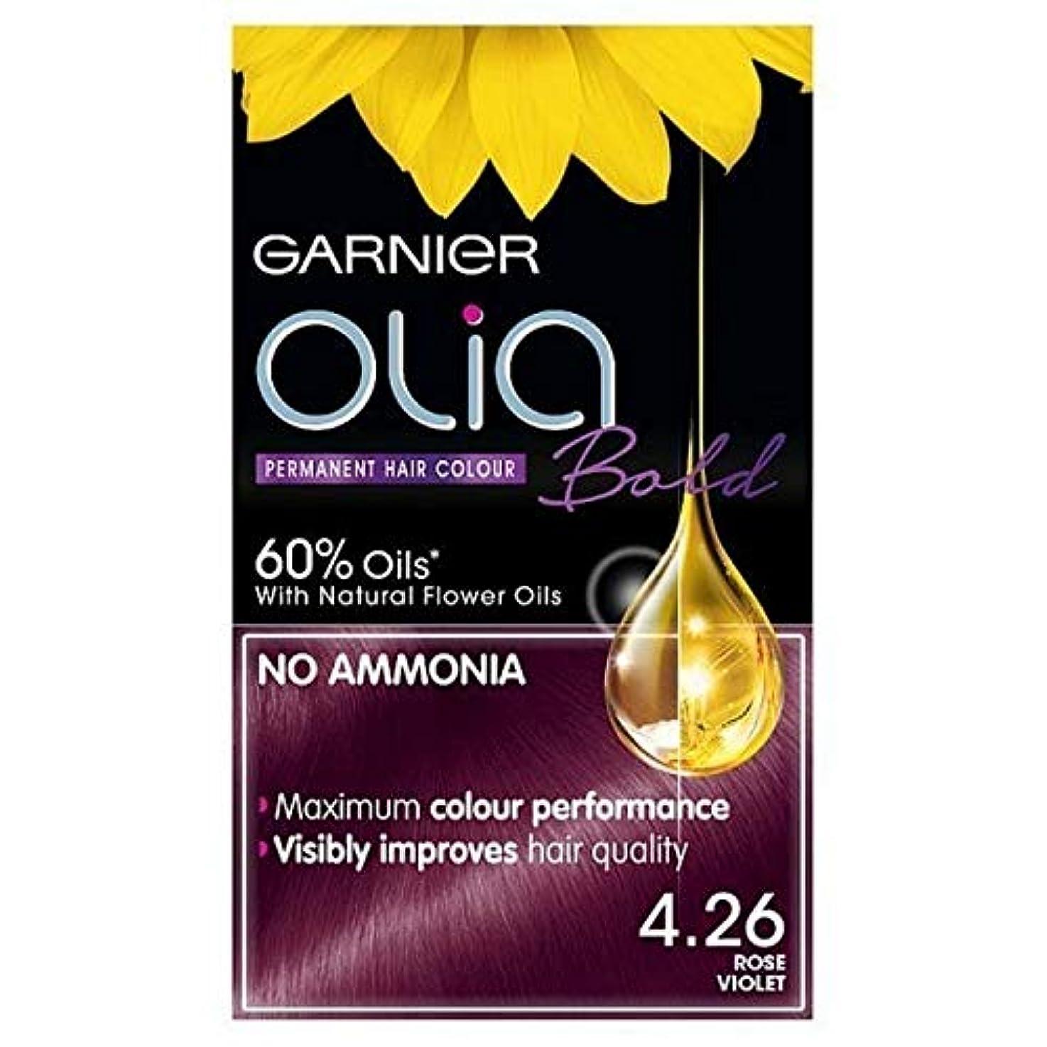 住所座標余分な[Garnier ] ガルニエOlia大胆永久染毛剤は、紫4.26ローズ - Garnier Olia Bold Permanent Hair Dye Rose Violet 4.26 [並行輸入品]