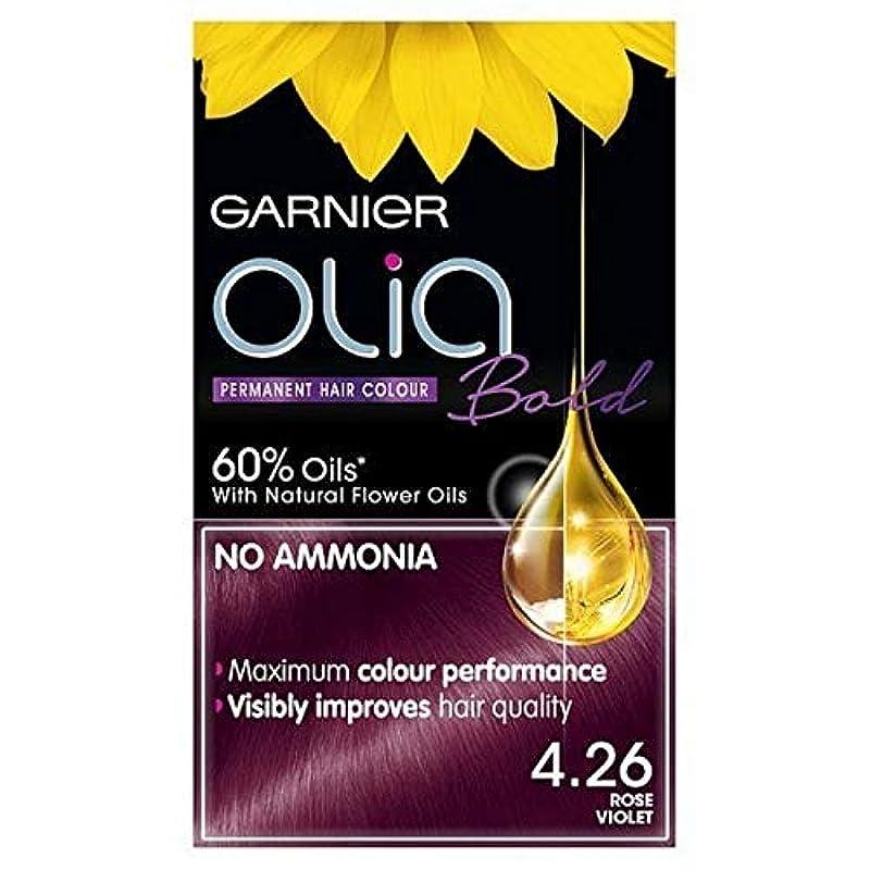 バルコニー原告ペック[Garnier ] ガルニエOlia大胆永久染毛剤は、紫4.26ローズ - Garnier Olia Bold Permanent Hair Dye Rose Violet 4.26 [並行輸入品]