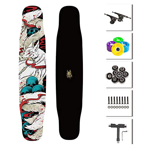 Lowest Price! SSLLPPAA Long Board Dancing Boys and Girls Entry Professional Board Beginner Skateboar...