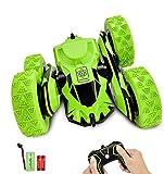 IDEAPARK Coche Teledirigido, 4WD 2.4 GHz RC Coche Acrobacia Rotación Volteo de 360 Grados, con Batería Recargable, Regalo para niños, niños y Adultos (Verde)