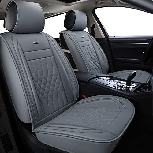 LUCKYMAN CLUB Gray Car Seat Covers Fit Most Sedan SUV Truck Fit for Outback Crosstrek Forester Legacy Impreza WRX Kia Optima Sportage Rondo Rio Cadenza Fusion Escape (Gray)
