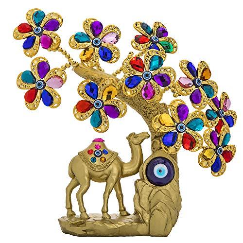 YU FENG Turkish Blue Evil Eye Flowers Tree with Healing...