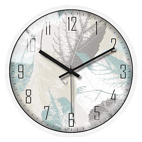 N/A LYZJDP Wanduhr Wohnzimmer Home 12 Zoll Silent Clock Moderne minimalistische Schlafzimmer Wandkarte