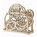 Modèle 3D Pendule en Bois mécanique Horloge Puzzle mécanique Gears Toy Building Set for Adultes Casse-tête Enfants Puzzles 3D (Couleur: Naturel, Taille: 213x189x77 (mm)) Jzx-n