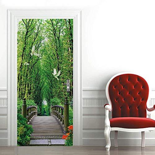 YANGCH Diy Pegatinas Decorativas Muebles Arte Paisajista Zen 90x200Cm Papel Tapiz Carteles Pegatinas De Pared Para Dormitorio Cuarto De Niños Arte Moderno Decoraciones