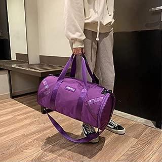 LAGNZ014H Travel Bags Nylon Inclined Shoulder Bag Luggage Handbag (Black)