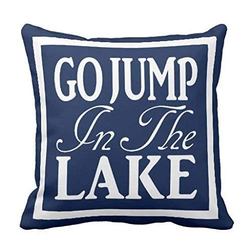 Nvfshreu Go Jump In The Lake Coussin Simplicité Mode Confortablement Chic Simple Style Usage Quotidien (Color : Colour, Size : Size)