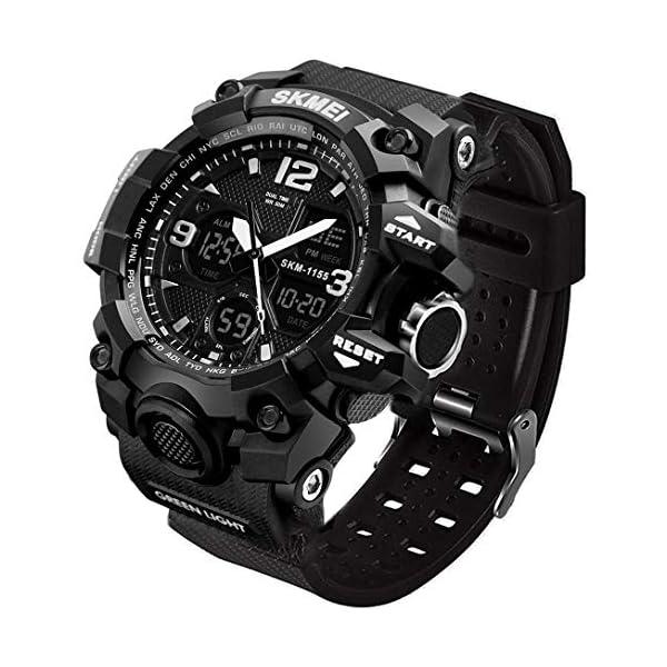 LYMFHCH Men's Analog Sports Watch, LED Military Digital Watch Electronic Stopwatch...