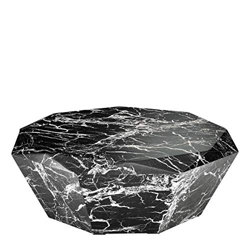 Eichholtz Black Diamond Coffee Table Diamond   Modern Luxury Living Room geometrische Hexagonal Round Accent Furniture