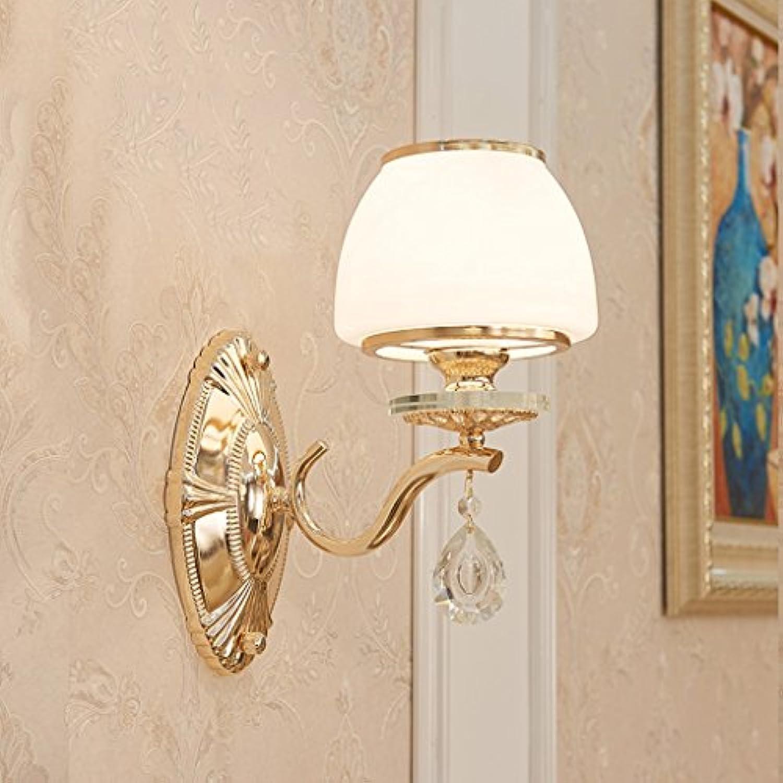 Europische Kristall Wand Lampe Nachttisch Schlafzimmer Gang Wohnzimmer Hintergrund Wand Eisen Wand Lampe (gre   Single head)