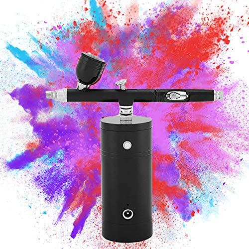 NEXMON エアブラシ USB充電式 エアブラシセット 軽量 小型 口径0.3mm スプレー ポンプペン エア コンプレッサー DIY アート創作 絵画 模型 塗装