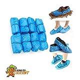 Couvre-chaussures jetables – 50 paires – Bleu Taille unique – Housse de chaussures antidérapante imperméable Épaisseur : 3 g, 100 pièces.