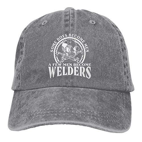XCNGG Soy un Soldador Badass Welding Sombreros de Vaquero Unisex Sombrero de Mezclilla Deportivo Gorra de béisbol de Moda Negro