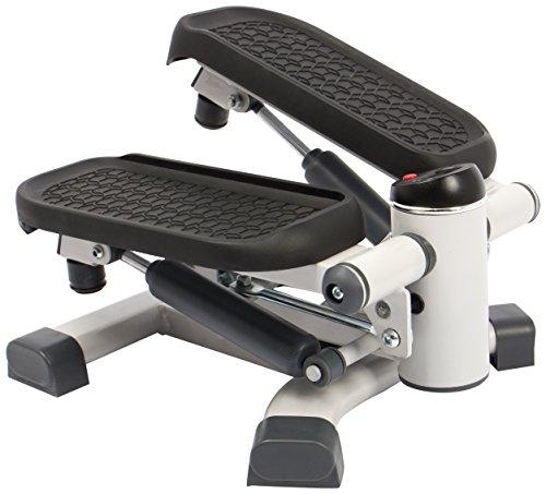 SportPlus 2in1 Mini-Stepper mit patentierter Umschalttechnik, Side-Stepper und Auf-und-Ab-Stepper in einem Gerät, Nutzergewicht bis 100kg, verschleißfreie Hydraulik-Zylinder, Trainingscomputer