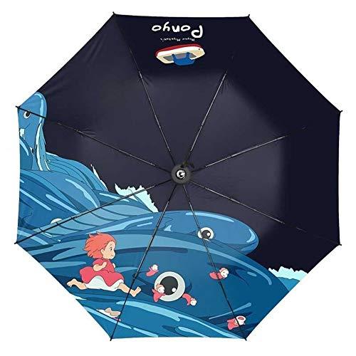 Paraguas Plegable Resistente al Viento...