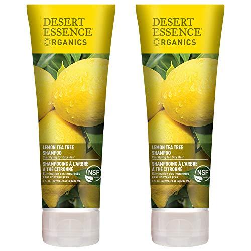 Desert Essence Lemon Tea Tree Shampoo - 8 Fl Oz - Pack Of 2 - Removes...