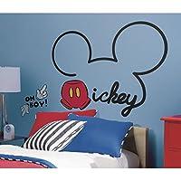 [ルームメイト]RoomMates Mickey and Friends All About Mickey Peel and Stick Giant Wall Decals RMK2560GM [並行輸入品]