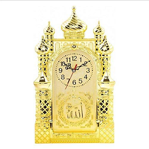 whbage Wecker Islamische Wanduhr Masjid Moschee Design Allah Shahadah Arabischer Koran Muslim Geschenk
