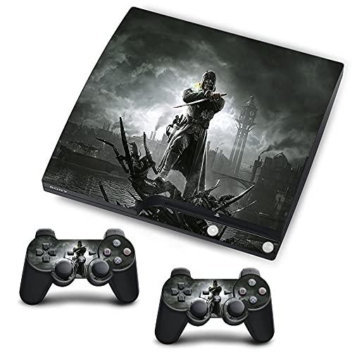 VINILOL Vinilo Dishonored para Playstation 3 Slim pegatina cubierta Dishonored skin para consola y 2 mandos