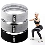 INTEY Resistance Bands for Legs and Butt, Fabric Workout Bands, Women/Men Stretch Exercise Loops...