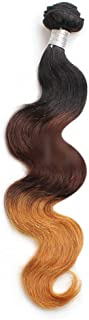 "Hairpieces Hairpieces 10""-24"" Hair Brazilian Body Wave Remy 100% Human Hair Extensions 1 Bundle Weft Weave 100g/pcs for Daily Use and Party (Color : Brown, Size : 14 inch)"
