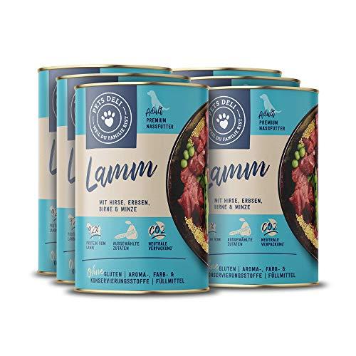 Nassfutter für Hunde | Lamm mit Karotte und Distelöl | 4,8 kg - 6er-Pack