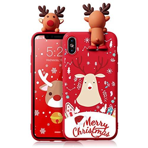 ZhuoFan Funda para Apple iPhone 11 Pro MAX, Cárcasa Silicona 3D Muñecas con Dibujos Navidad Diseño Suave Gel TPU...