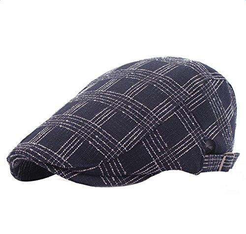Demarkt Tela Escocesa Boina Los Hombres Elegante Sombrero