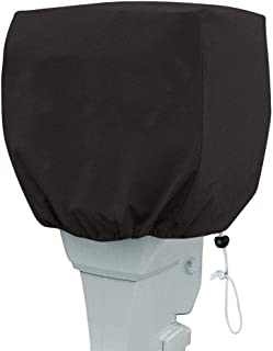 QEES Outboard Motor Cover, Heavy Duty Waterproof Motor Hood Cover, UV Resistant Anti-Scratch Boat Engine Cover