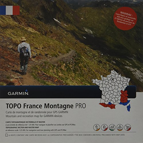 Garmin TOPO France Montagne PRO Topografische Vektorkarte